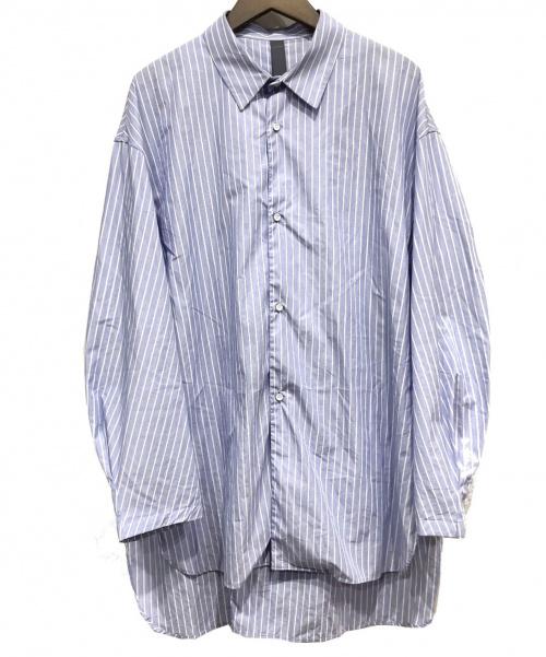 SHINYA KOZUKA(シンヤコズカ)SHINYA KOZUKA (シンヤコズカ) 20SSオーバーサイズシャツ ホワイト×ネイビー サイズ:Sの古着・服飾アイテム