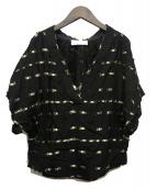 ()の古着「装飾プルオーバーブラウス」|ブラック