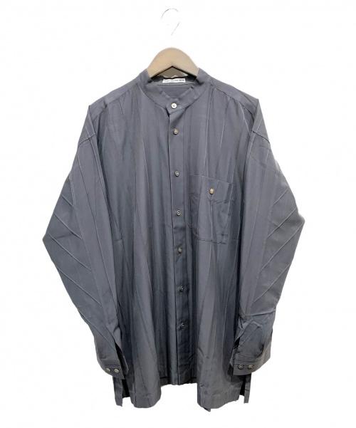 ISSEY MIYAKE MEN(イッセイミヤケメン)ISSEY MIYAKE MEN (イッセイミヤケメン) ルーズフィットプリーツシャツ グレー サイズ:Lの古着・服飾アイテム