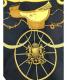 HERMES (エルメス) シルクスカーフ ゴールド×ブラック SPRINGS:7800円