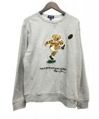 POLO RALPH LAUREN(ポロラルフローレン)の古着「ラグビーベアスウェットシャツ」|グレー