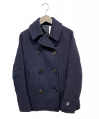 ORCIVAL(オーシバル)の古着「メルトンショートPコート」|ネイビー