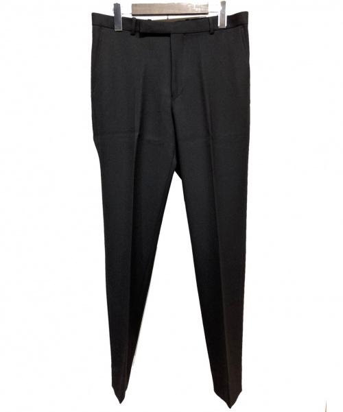 AURALEE(オーラリー)AURALEE (オーラリー) 19AWセンタープレスパンツ ブラック サイズ:4 WOOL SERGE NARROWの古着・服飾アイテム
