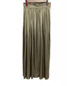 ISSEY MIYAKE(イッセイミヤケ)の古着「プリーツスカート」 オリーブ