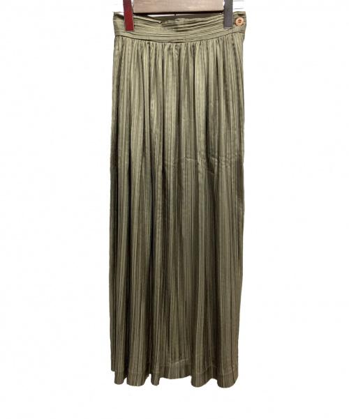 ISSEY MIYAKE(イッセイミヤケ)ISSEY MIYAKE (イッセイミヤケ) プリーツスカート オリーブ サイズ:Mの古着・服飾アイテム