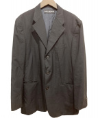 ISSEY MIYAKE(イッセイミヤケ)の古着「ステッチデザインウールテーラードジャケット」 ブラック
