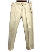PT05(ピーティーゼロチンクエ)の古着「ユーズド加工スリムチノパンツ」|ベージュ