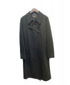 FENDI jeans(フェンディージーンズ)の古着「ズッカ柄ダブルコート」|ブラック