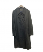 FENDI JEANS(フェンディ ジーンズ)の古着「ズッカ柄ダブルコート」|ブラック