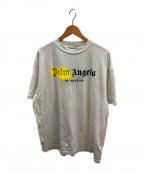 Palm Angels(パームエンジェルス)の古着「LAスプレーロゴプリントTシャツ」|ホワイト
