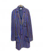 FACETASM(ファセッタズム)の古着「パイルガウンコート」 ブルー