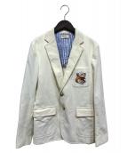 MAISON KITSUNE(メゾンキツネ)の古着「コーデュロイテーラードジャケット」|ホワイト