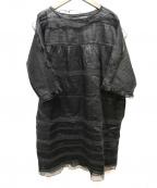 ISABEL MARANT(イザベルマラン)の古着「シルク・リネンワンピース」|ブラック