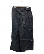 ROBERTO COLLINA(ロベルトコリーナ)の古着「リネンパンツ」 ブラック
