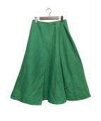 VERMEIL par iena(ヴェルメイユ パー イエナ)の古着「綿/麻二重織りラップスカート」|グリーン