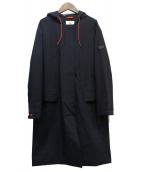 AIGLE(エーグル)の古着「フーデッドコート」|ネイビー