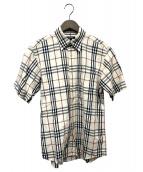 BURBERRY LONDON(バーバリーロンドン)の古着「ノヴァチェックシャツ」|ベージュ
