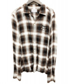 WACKO MARIA(ワコマリア)の古着「チェックオープンカラーシャツ」|ブラウン
