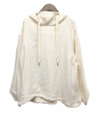 BEARDSLEY(ビアズリー)の古着「フードプルオーバーブルゾン」 ホワイト