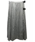 BEAMS BOY(ビームスボーイ)の古着「プリーツラップスカート」|グレー