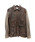 SON OF THE CHEESE(サノバチーズ)の古着「切替シャツ」|ブラウン
