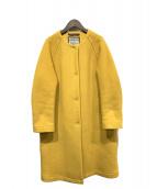 LONDON Tradition(ロンドントラディション)の古着「ノーカラーコート」 イエロー
