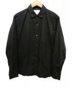 YAECA(ヤエカ)の古着「スナップボタンシャツ」|ブラック