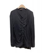 LOUIS VUITTON(ルイヴィトン)の古着「カシミヤ混デザインカーディガン」|ブラック