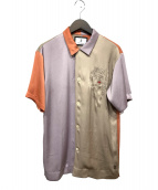 MIHARA YASUHIRO(ミハラヤスヒロ)の古着「刺繍オープンカラーシャツ」 マルチカラー