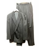 COMME des GARCONS HommePlus(コムデギャルソンオムプリュス)の古着「90sダブルブレストセットアップ」|ブラック