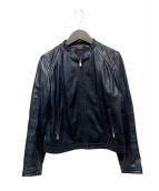 TOMORROW LAND collection(トゥモローランドコレクション)の古着「ラムレザージャケット」|ネイビー
