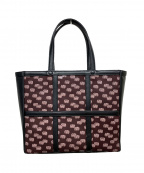 印傳屋(インデンヤ)の古着「ミニエレファント柄ハンドバッグ」|ブラック