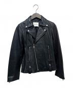 moname(モナーム)の古着「ラムレザーライダースジャケット」 ブラック
