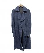 pas de calais(パドカレ)の古着「スノーネップツイードコート」|ネイビー