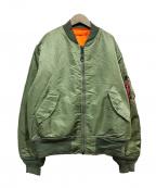 ALPHA(アルファ)の古着「MA-1ジャケット」|オリーブ