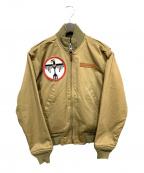 ALPHA()の古着「MA-1ジャケット」|ベージュ