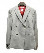 MADISON BLUE(マディソンブルー)の古着「ウールダブルブレストジャケット」|グレー