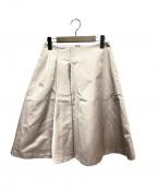 Harrods(ハロッズ)の古着「シルクミックスグログランスカート」|ベージュ