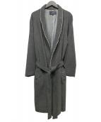 BURBERRY LONDON(バーバリーロンドン)の古着「カシミヤ混ガウンコート」|グレー
