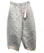 YACCO MARICARD(ヤッコマリカルド)の古着「キルティングパンツ」|グレー