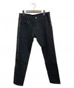 kiryuyrik(キリュウキリュウ)の古着「テーパードデニムパンツ」|ブラック