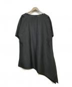 YACCO MARICARD(ヤッコマリカルド)の古着「シルクブラウスワンピース」|ブラック