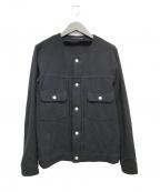 DISCOVERED(ディスカバード)の古着「ノーカラーブルゾン」|ブラック