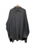 CLANE HOMME(クラネ オム)の古着「OVER SIZE SHIRT」|ブラック