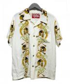 HOUSTON(ヒューストン)の古着「アロハシャツ」 ホワイト