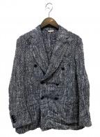 DEPETRILLO(デペトリロ)の古着「シルク混ダブルジャケット」|ベージュ