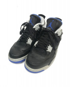 NIKE(ナイキ)の古着「Air Jordan 4 RETRO」|ネイビー×ブラック