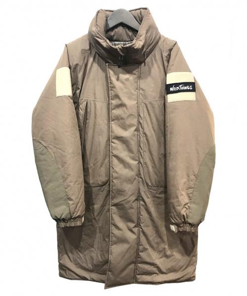 WILD THINGS(ワイルシングス)WILD THINGS (ワイルドシングス) プリマロフトモンスターパーカー ブラウン サイズ:Mの古着・服飾アイテム