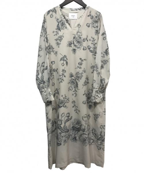 Ameri(アメリ)AMERI (アメリ) ブラウスワンピース グリーン×ベージュ サイズ:Fの古着・服飾アイテム