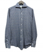 finamore(フィナモレ)の古着「チェックシャツ」 ブルー